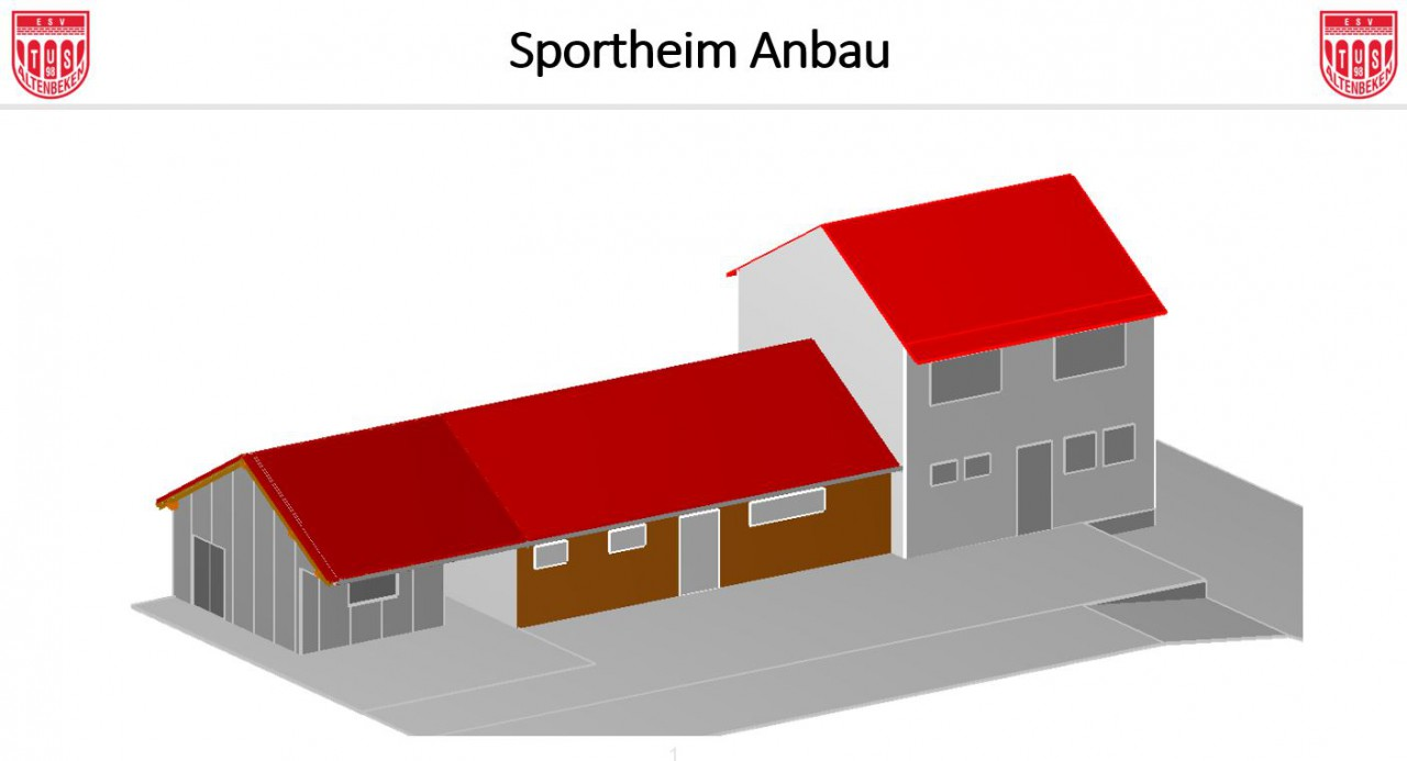 Saisonausklang und Sportheim Anbau